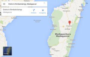 Madagascar Carte géographie Ambatolampy